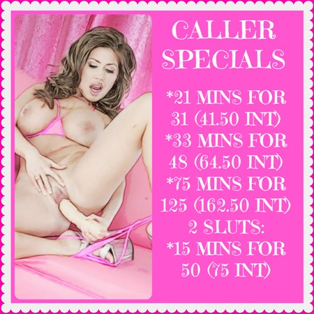 MILF tramp phonesex caller specials